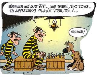 Les Dalton jouent aux échecs