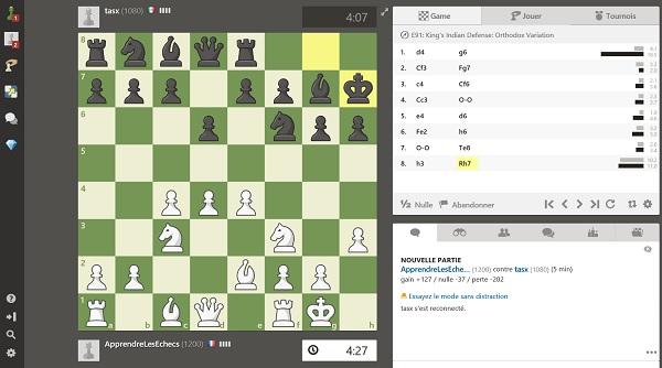 Jouer aux échecs en ligne sur chess.com