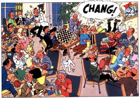 Tintin et les échecs