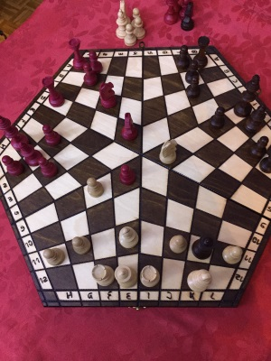Jeu d'échecs à trois