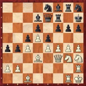 La partie Yates - Znosko Borovsky après 39 coups