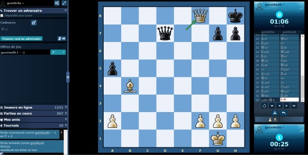 Jouer aux échecs en ligne sur le site d'Europe-Echecs